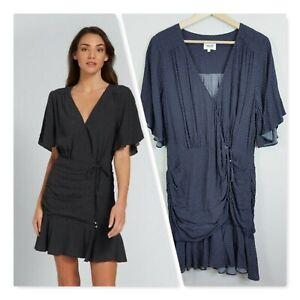 SEED-HERITAGE-Womens-Spotty-wrap-Dress-Size-AU-14-or-US-10