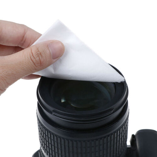 100PCS conveniente seco toallitas Anteojos Gafas de natación Cámara Len papel de limpieza /_ Bj
