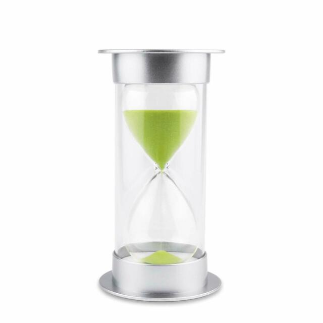 Sand Clock THICKEN GLASS 5//10//15//20//30//60 Minutes Hourglass Timer for Kids Child