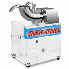 Electric Snow Cone Machine Ice Shaver Maker Shaving Crusher Dual Blades New
