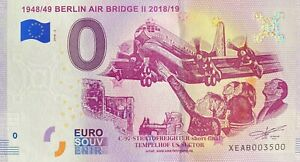 BILLET-0-EURO-1948-49-BERLINAIR-BRIDGE-II-ALLEMAGNE-2018-NUMERO-3500