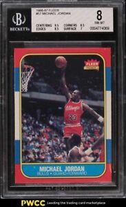 1986 Fleer Basketball Michael Jordan ROOKIE RC #57 BGS 8 NM-MT