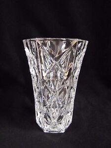 Cristal Darques France.Luminarc Crystal Vase Cristal D Arques France Diamond Cut Pattern Ebay