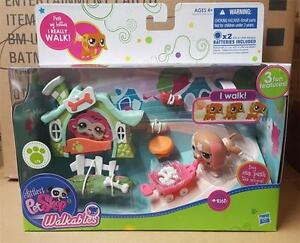 Littlest Pet Shop Walkables Puppy Dog Play Set #2163 Sealed New RARE RETIRED