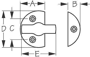 """222365-A Sea Dog Door Button Brass 1-3//4/"""" Round Latch"""