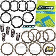 Apico Clutch Kit Steel Friction Plates & Springs For Kawasaki KXF 450 2007 MotoX