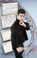"Bruce Lee ""Workout Calendar"" Poster"