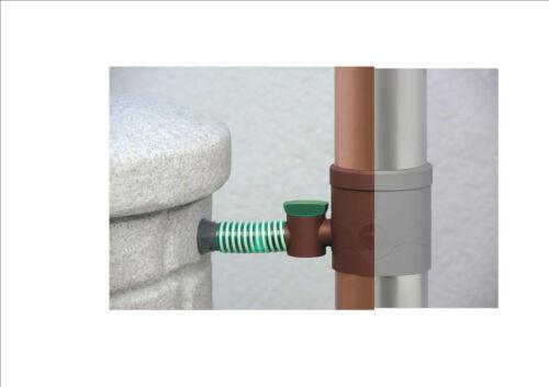Wasserdieb Regentonne von 3P Fallrohrfilter Regensammler Hahn Sammelfilter