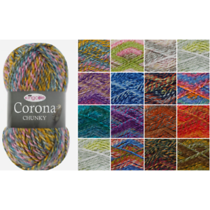 King-Cole-Corona-Chunky-Knitting-Yarn-Acrylic-Wool-100g-Wool