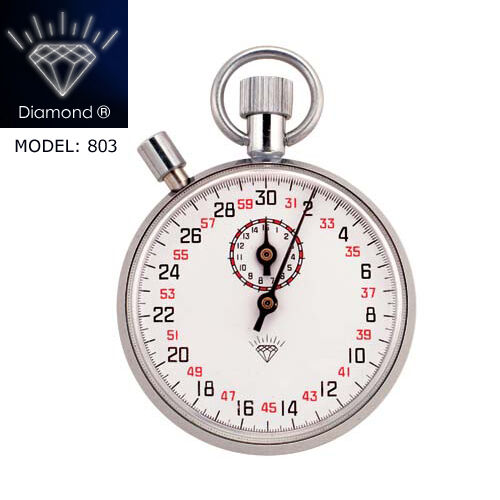 DIAMOND Stopwatch Mechanical Watch Timer 13 Jewels Brass Chromed Professional