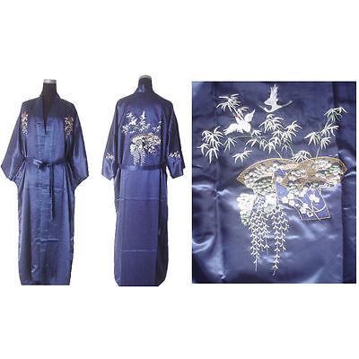 Traditional Chinese Women's silk Kimono Robe Gown sleepwear Sz: M L XL 2XL