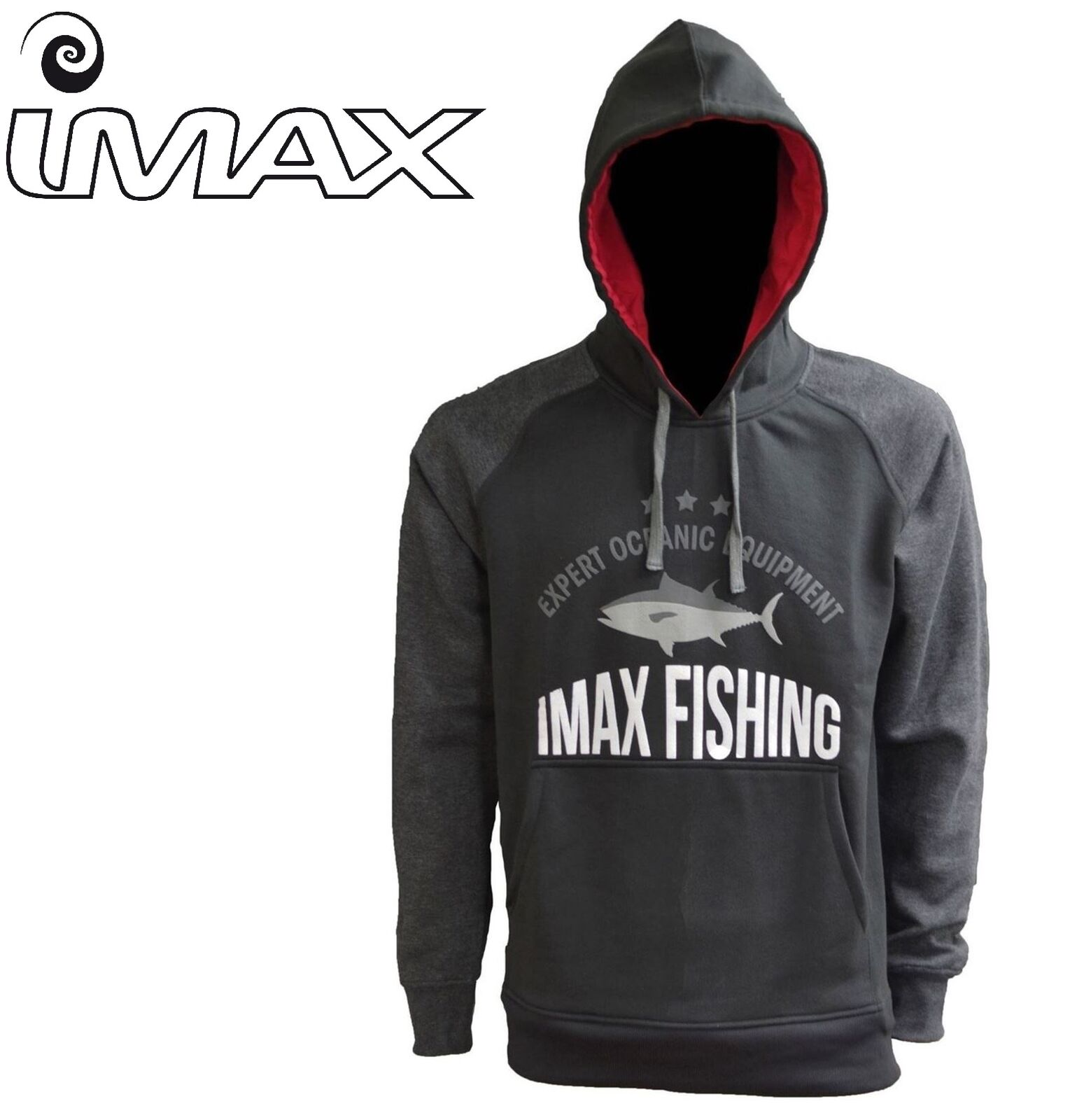 IMAX Tonno Felpa con Cappuccio Pesca Outdoor Casual S-XXL