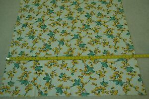 44-034-Long-x-38-034-Wide-Vintage-1950-039-s-Floral-on-Cream-Feedsack-Cotton-M5449