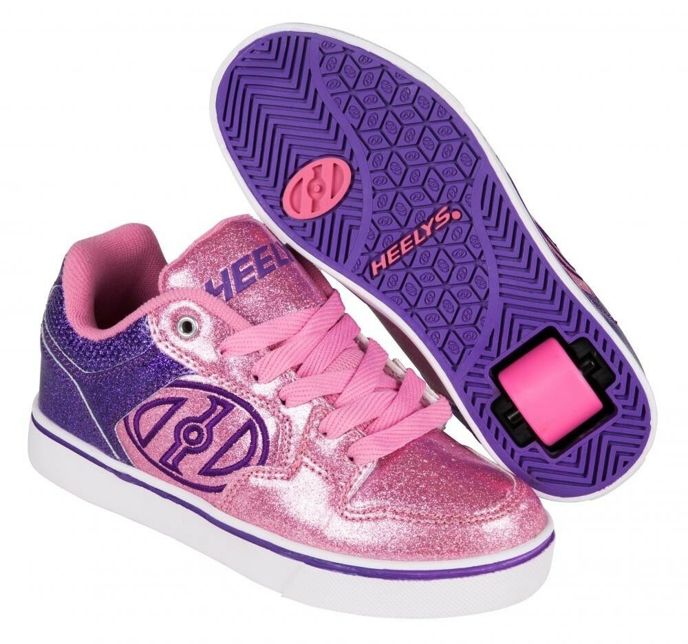 Heelys Motion Plus Girls Schuhes - Rosa / lila DVD Glitter +FREE DELIVERY+HOW TO DVD lila 6d04d4