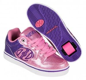 Free postage. Image is loading Heelys-Motion-Plus-Girls-Shoes-Pink-Purple- Glitter- a5b81965d3c0