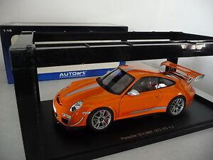 Porsche 911 (997) Gt3 Rs 4.0 - Orange Autoart 1/18