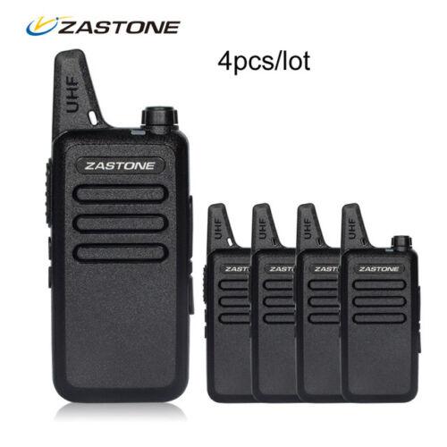 USA Stock 4pcs Zastone ZT-X6 Mini Walkie Talkie UHF 400-470MHz Two Way Ham Radio