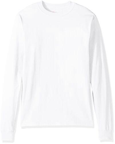 Select SZ//Color. Hanes Branded Printwear Mens Beefy Long Sleeve Shirt L