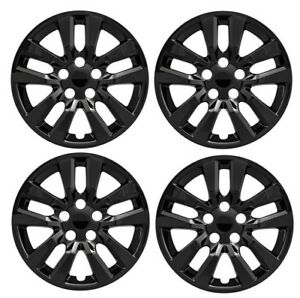 NEW-16-034-BLACK-Hubcap-Wheelcover-SET-of-4-that-FITS-2007-2018-Nissan-ALTIMA