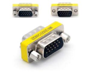 2x DB15 HD D-SUB 15-Pin VGA SVGA Male to Female Gender Changer Adapter Converter