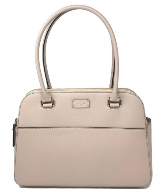 1948013f042a Kate Spade Grove Street Terri Large Shoulder Bag Almondine Leather Tote  WKRU4570