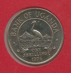 Uganda 1 shilling, 1976 Km 5a UNC SCARCE or RARE YEAR