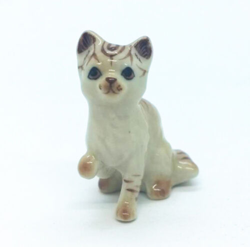 Chausie Cat Ceramic Lovely Pet Miniature Figurine Handmade Collectible Decor