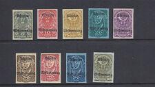 AUSTRIA 1920 (Scott B11-B19 semi-postals IMPERFs) VF MH