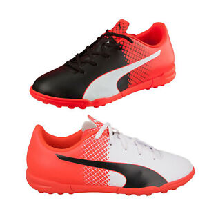 Dettagli su Scarpe calcetto Puma evoSPEED 4.5 TRICKS TT 103593_003 EVO SPEED Red Black White