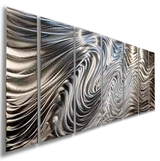 wall art office. Silver Modern Abstract Metal Wall Art Office Decor By Jon Allen - Hypnotic  Sands Wall Art Office