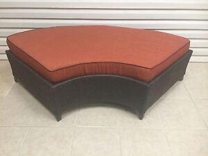 Frontgate Newport Outdoor Patio Sofa Chair Ottoman Cushion 26x68