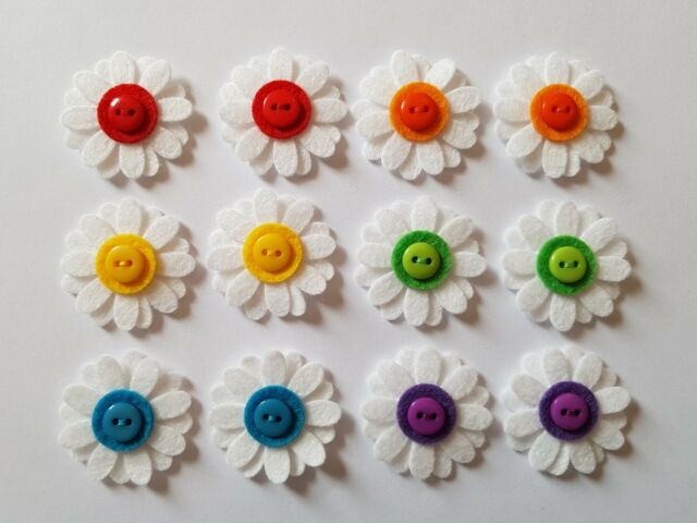 X12 Felt Flower Embellishments.Die cuts