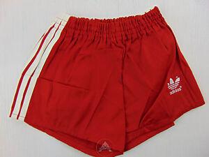 nuovo prodotto 54422 43b30 Detalles de Vintage 80 ADIDAS Pantaloncini D152 XS S Bambino 11 12 Anni  Rosso Shorts West