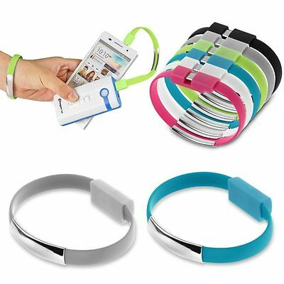 Micro USB to USB Cable Bracelet Charger Data Sync Cord for iPhone 5S 6 Samsung