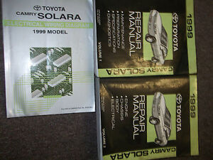 1999 toyota camry solara service shop repair manual set. Black Bedroom Furniture Sets. Home Design Ideas