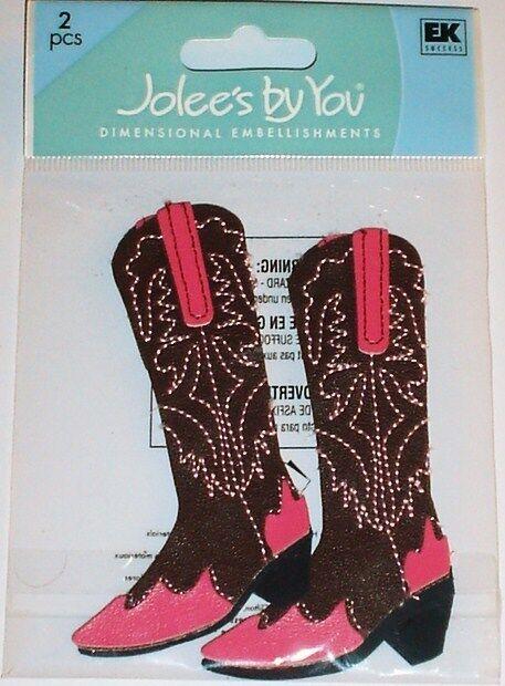 JOLEE'S BOUTIQUE DIMENSIONAL STICKERS ~WOMEN COWBOY BOOTS