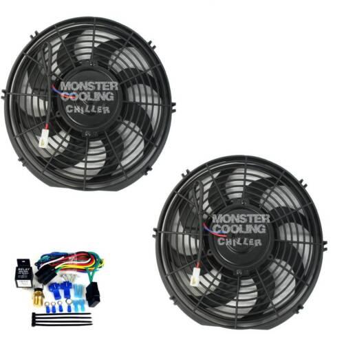 "Capri Radiator Fans,2-12/"" 130W Electric Fans /& Relay Kit"