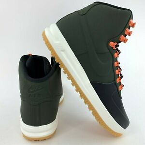 Nike-Lunar-Force-1-AF1-Duckboot-18-Men-039-s-Black-Sequoia-Sail-BQ7930-004-Sneakers