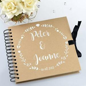 Personalized Wedding Guest Book.Details About Personalised Wedding Guestbook Scrapbook Photo Album Book Polaroid Memories
