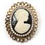 Avalaya Vintage Antiguo Camafeo De Oro Cristal Broche