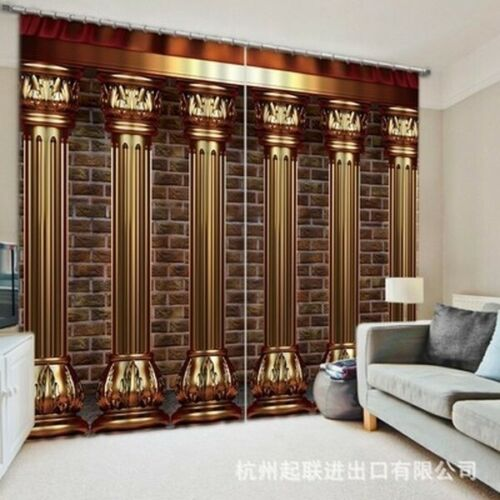 Window Curtain Curtains Graphics Fantasy Living Room Bedroom Drapes 50/% Blackout