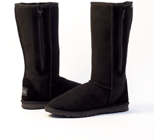 ae9ede8aff6 Details about Tall Ugg Boots with Zip / Zipper Australian Made Black 8 / 9  - STOCK CLEARANCE