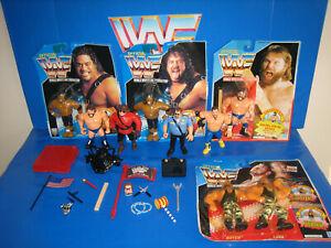 WWF WWE Hasbro Wrestling Figures MOC Loose & Custom accessories Retro mattel