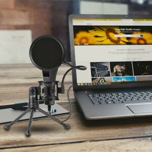 Microphone-Tripod-Stand-With-Filter-Desktop-Shock-Mount-Mic-Holder-Brandnew