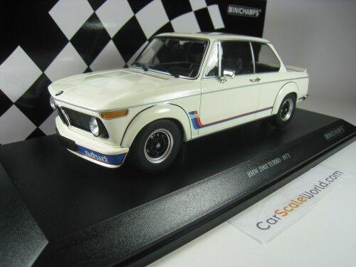 Bmw 2002 turbo 1973 1   18 minichamps (weiß)