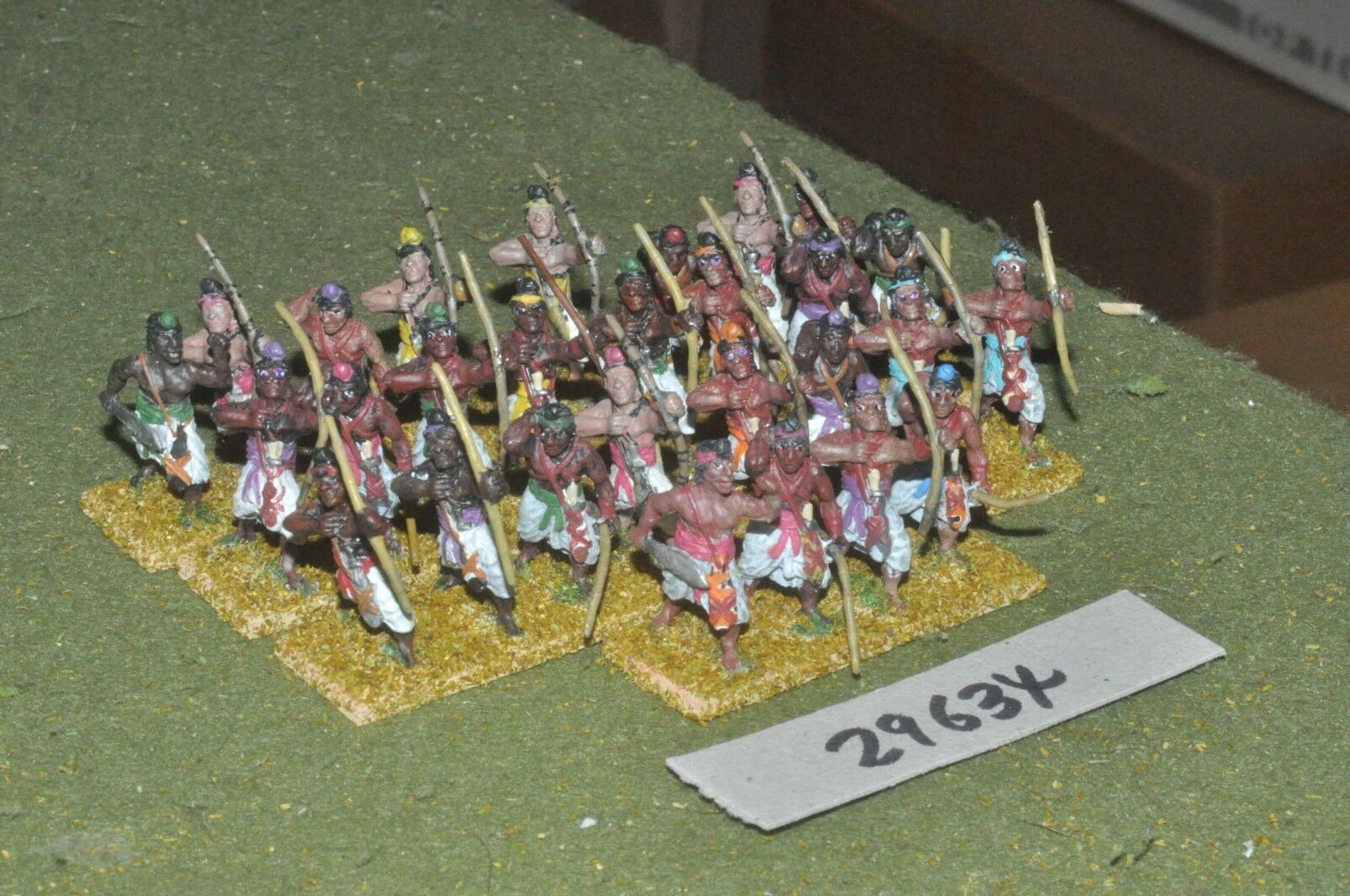 25mm medieval   indian - archers 28 figures - inf (29634)