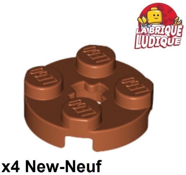 LEGO 6X Lot of SIX 2x2 Round Plate w// Axle Hole LIGHT GRAY Grey PART# 4032 EUC