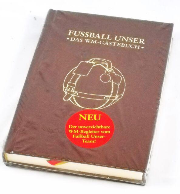 BUCH - Fussball unser - Das WM Gästebuch zur EM - Restmenge TOP Leder