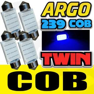 4-LED-38MM-239-272-C5W-Azul-Hielo-Luz-Interior-Numero-De-Matricula-Festoon-Bombillas-Twin