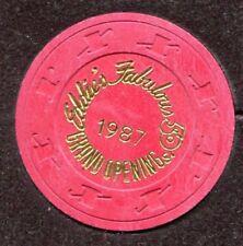Reno Eddie's Fabulous 50's Grand Opening 1987 Casino Chip  - Red